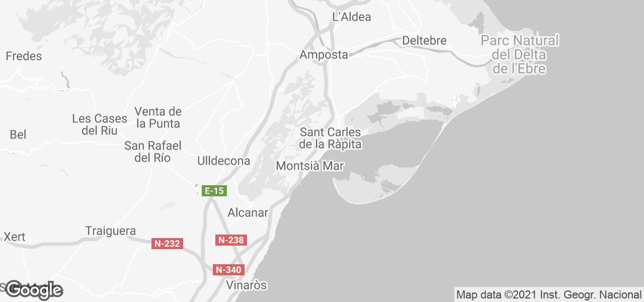 Alcanar Spain Map.Rent Frisia Vacaciones Joana In Alcanar Playa Costa Daurada Micazu