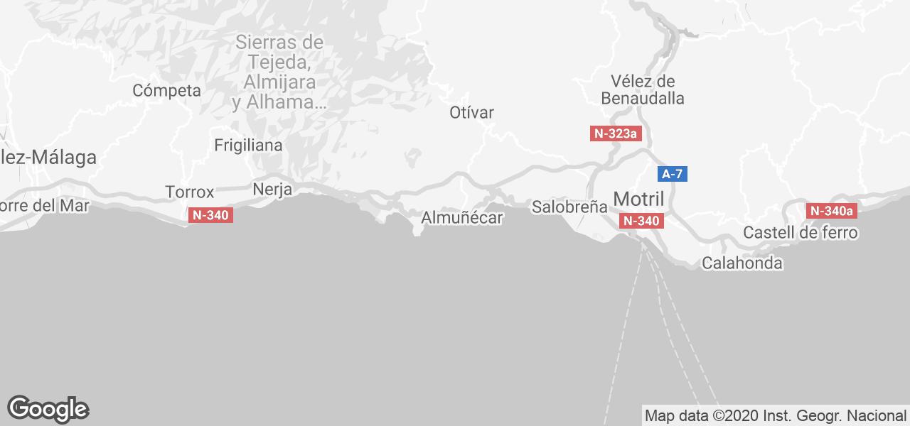 Almunecar Spain Map.Rent El Cason In Almunecar Costa Del Sol Micazu